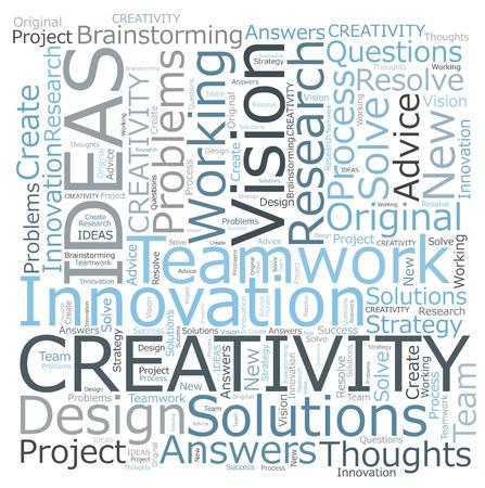 Creativity IDEAS word cloud Stok Fotoğraf