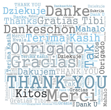 Thank you word cloud photo