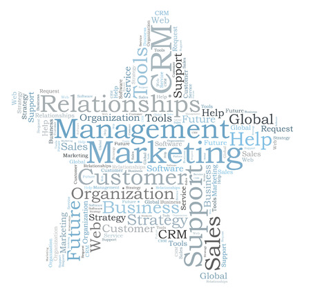 CRM word cloud photo