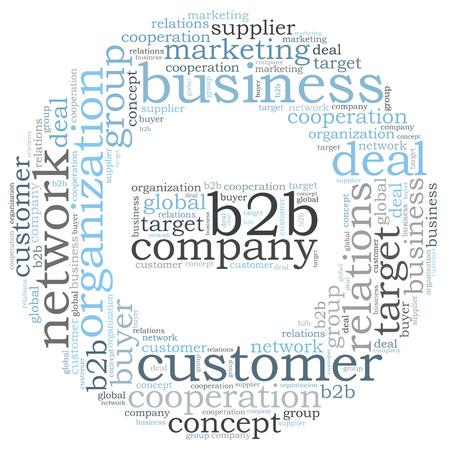 b2b: b2b nube de palabras Foto de archivo