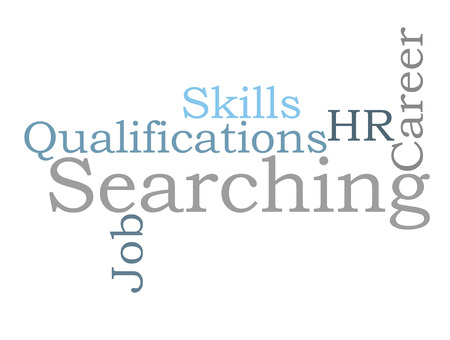 job qualifications: Career Searching word cloud