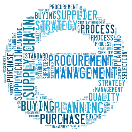 procurement word cloud Standard-Bild