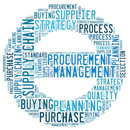 procurement word cloud Stock Photo