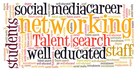 networking word cloud photo