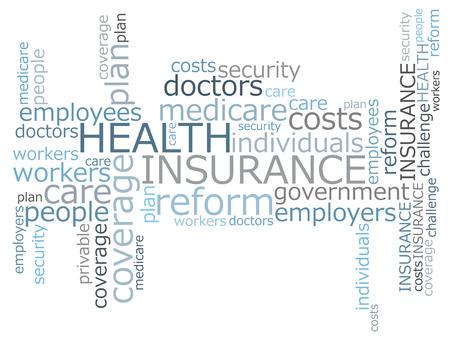 健康保険の単語の雲 写真素材