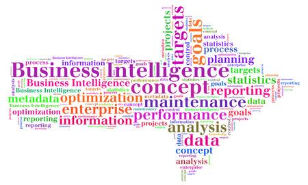 Business Intelligence word cloud Stock Photo - 26368528