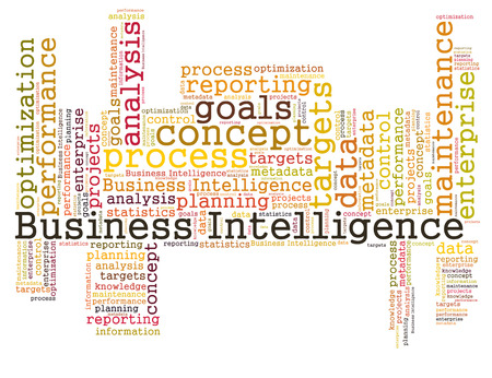 Business Intelligence word cloud Stock Photo - 26368529