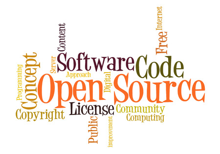 Open Source Software word cloud photo