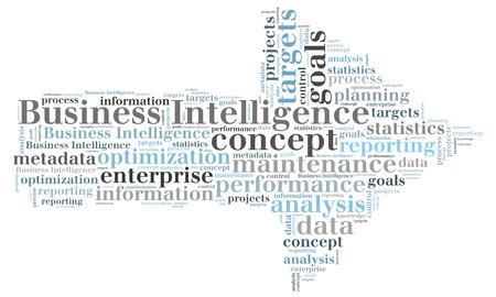 Business Intelligence word cloud Stock Photo - 26368564