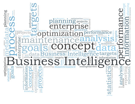 Business Intelligence word cloud Stock Photo - 26368565