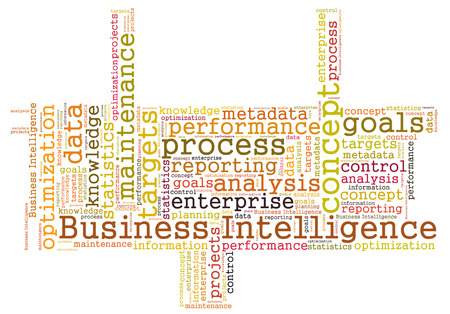 Business Intelligence word cloud Stock Photo - 26368566