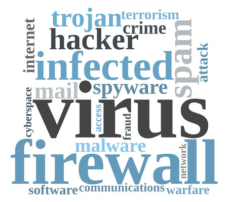 Firewall Virus word cloud photo