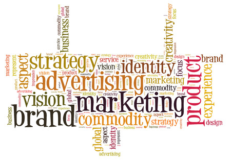 Marketing brand word cloud photo