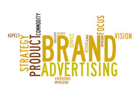 brand advertising word cloud photo