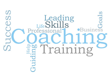 personal goals: COACHING word cloud