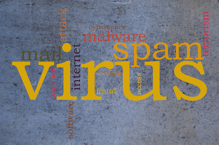 Virus world cloud photo