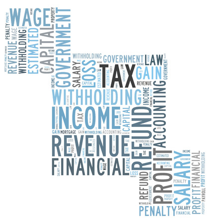 estimated: tax word cloud