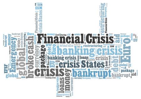 financiele crisis: Financiële crisis de woordwolk