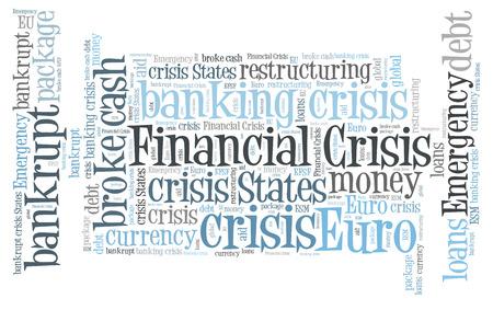 financiele crisis: Financial crisis word cloud Stockfoto