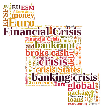 restructuring: Financial crisis word cloud Stock Photo