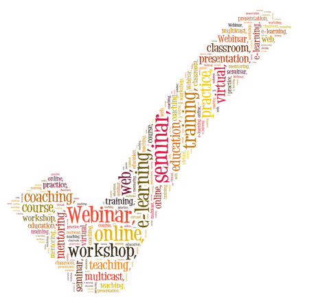 Webinar word cloud