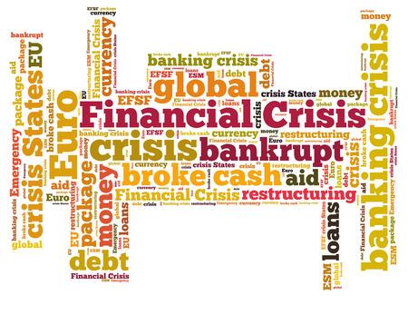 financiele crisis: Financiële crisis word cloud