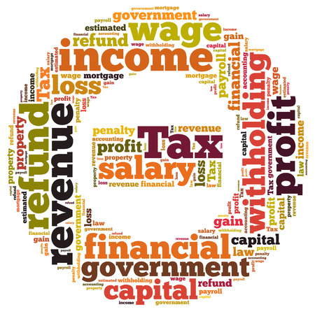 taxes word cloud photo