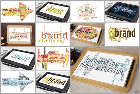variation of brand marketing word cloud Reklamní fotografie