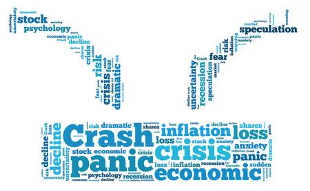 stock crash panic word cloud Stock Photo