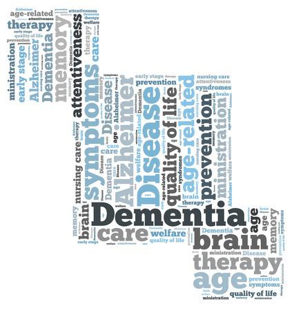 alzheimer s disease: Dementia word cloud