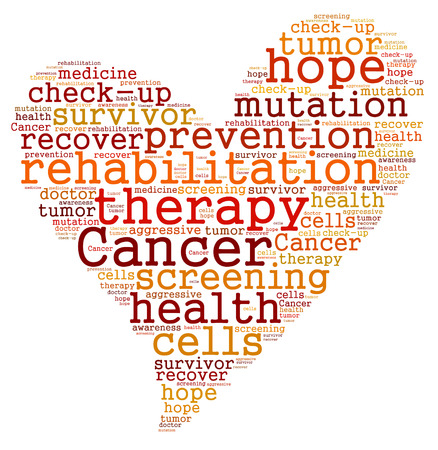 Cancer therapy word cloud Stockfoto