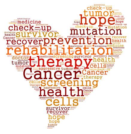 Cancer therapy word cloud Archivio Fotografico