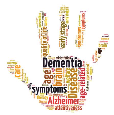 disease prevention: Demencia nube de palabras