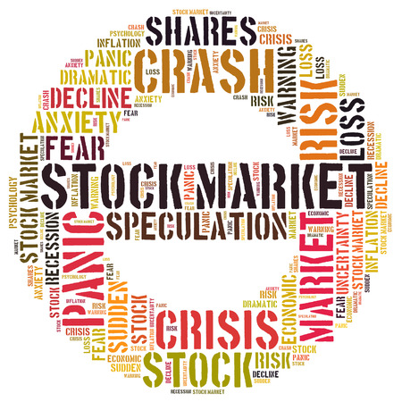 stock crash panic word cloud photo
