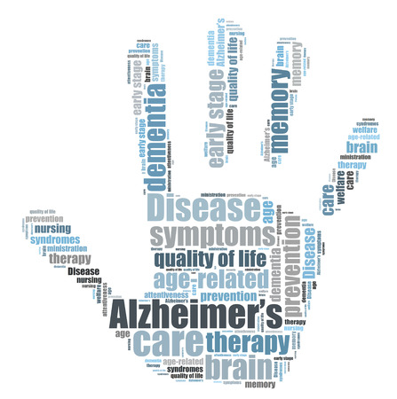 attentiveness: Alzheimers desease word cloud