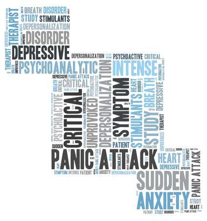 depressive: panic attack word cloud