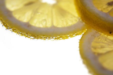 lemon slices: Lemon slices in water
