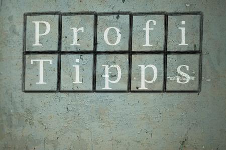 hint: Profi Tipps Stock Photo