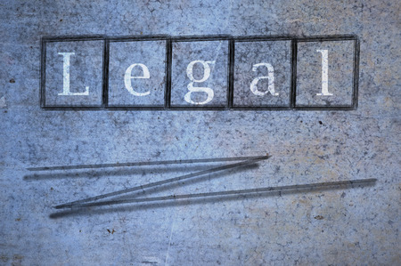 rightful: legal writen on a wall background Stock Photo