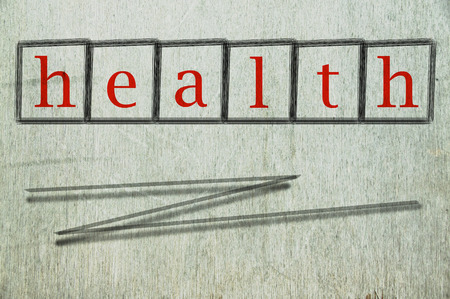robustness: health written on a wall background Stock Photo