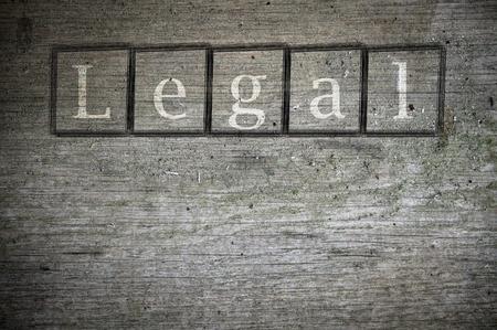 juridische geschreven op een muur achtergrond