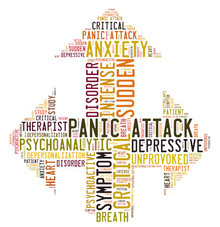 psychoactive: panic attack word cloud