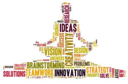 創造性とアイデアとビジョン 写真素材