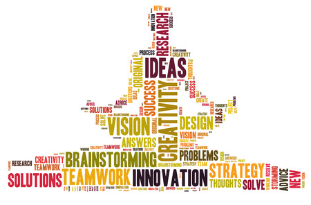 Creativity and ideas and vision Stockfoto