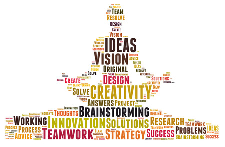 Creativity and ideas and vision Standard-Bild