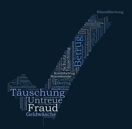 schutz: Fraud word cloud