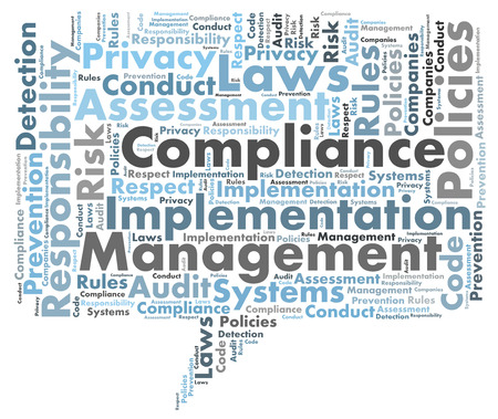 risk: Compliance word cloud Stock Photo