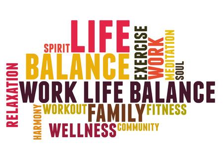work life balance wordcloud Stockfoto