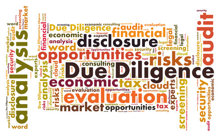 diligence: Due Diligence word cloud Stock Photo