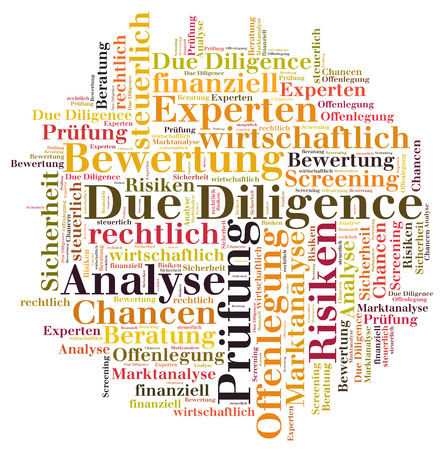 disclosure: Due Diligence word cloud Stock Photo